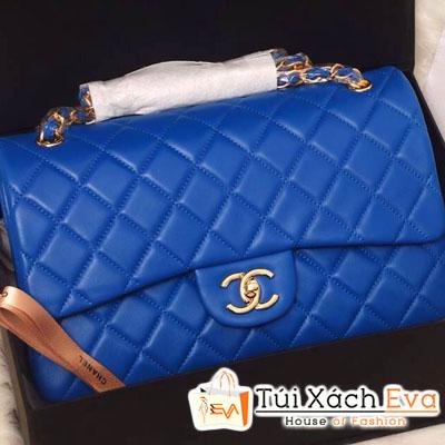 Túi Xách Chanel Classic Siêu Cấp Màu Xanh Cobalt Đẹp