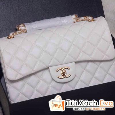 Túi Xách Chanel Classic Siêu Cấp Màu Trắng Đẹp
