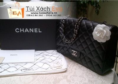 Túi Xách Chanel Classic Da Hột Siêu Cấp Màu Đen Đẹp