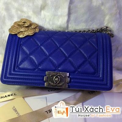 Túi Xách Chanel Boy Siêu Cấp 2014 Màu Xanh Cobalt Đẹp