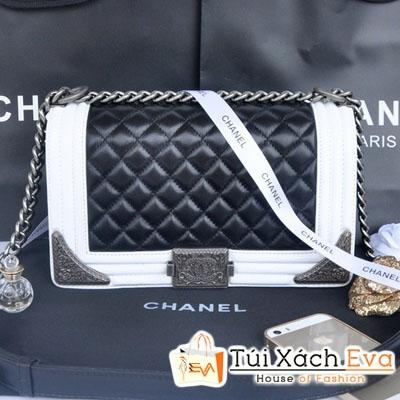 Túi Xách Chanel Boy Siêu Cấp Mix Màu Đen Trắng Đẹp