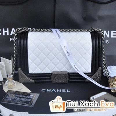 Túi Xách Chanel Boy Siêu Cấp Mix Màu Trắng Đen Đẹp