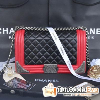 Túi Xách Chanel Boy Siêu Cấp Mix Màu Đen Đỏ Đẹp