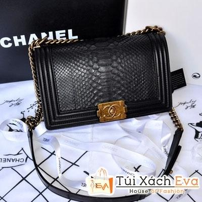 Túi Xách Chanel Boy Siêu Cấp Da Rắn Màu Đen Đẹp