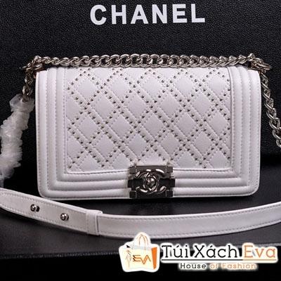 Túi Xách Chanel Boy Siêu Cấp Da Rắn Màu Trắng  Đẹp