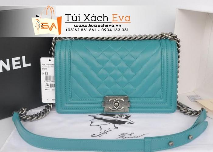 Túi Xách Chanel Boy 2014 Siêu Cấp Màu Xanh Ngọc Đẹp