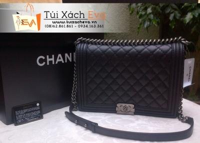 Túi Xách Chanel Boy Super Màu Đen Cổ Điển Đẹp