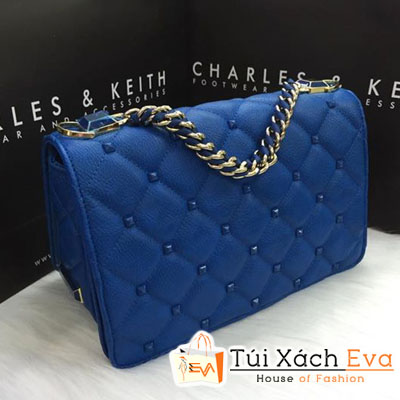 Túi Xách Charles & keith Đinh Fake Màu Xanh Cobalt Đẹp