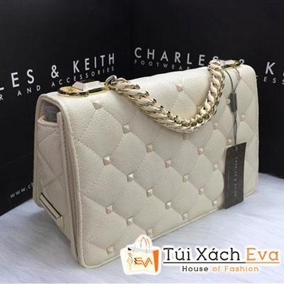Túi Xách Charles & keith Đinh Fake Màu Kem Đẹp