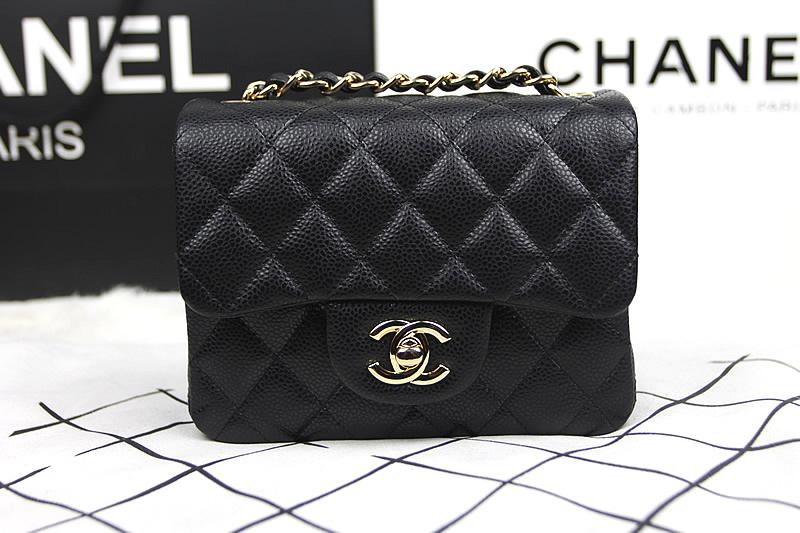 Túi Xách Chanel Mini Super Màu Đen Khóa Vàng Đẹp