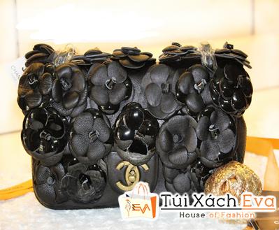 Túi Xách Chanel Hoa Hồng Super Màu Đen Đẹp