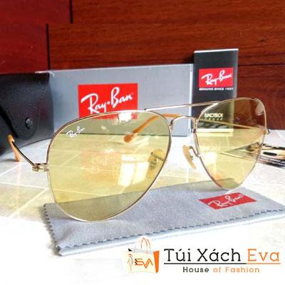 Mắt Kính RayBan Aviator RB3025 Gọng Vàng Tròng Vàng Đẹp