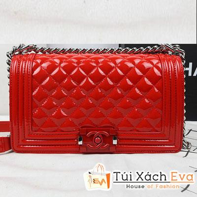 Túi Xách Chanel Boy Super Màu Đỏ Da Bóng Khóa Đỏ Đẹp