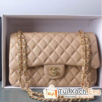 Túi Xách Chanel Classic Super Màu Da Khóa Vàng Đẹp