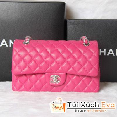 Túi Xách Chanel Classic Super Màu Hồng Khóa Bạc Đẹp