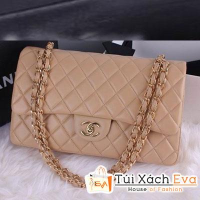 Túi Xách Chanel Classic Super Màu Da Khóa Vàng Size 30 Đẹp