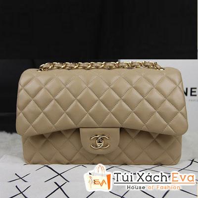 Túi Xách Chanel Classic Super Màu Da Khóa Vàng Size 31 Đẹp