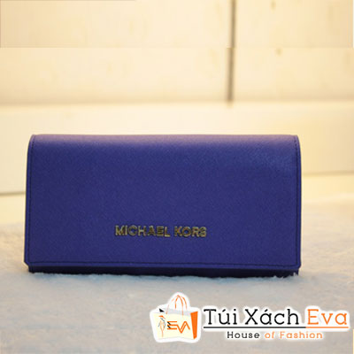 Ví Nữ Michael Kors Fake1 Màu Xanh Cobalt Đẹp