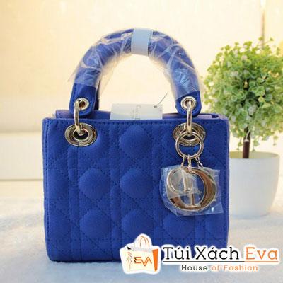 Túi Xách Dior Lady Mini F1 Màu Xanh Cobalt Đẹp