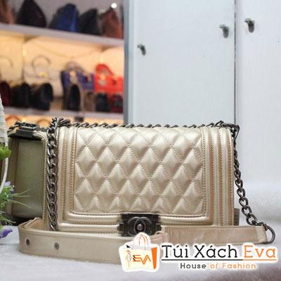 Túi Xách Chanel Boy F1 Da Lì Màu Gold Đẹp
