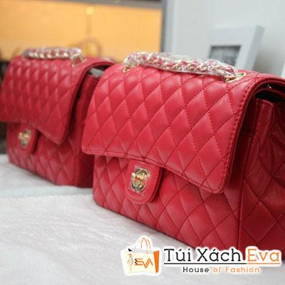 Túi Xách Chanel Classic Màu Đỏ Da Dê F1 Đẹp