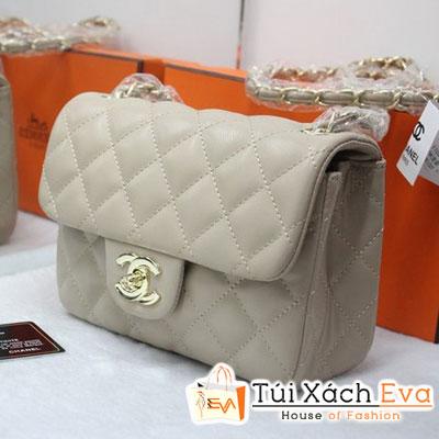 Túi Xách Chanel Classic Mini F1 Màu Kem Đẹp