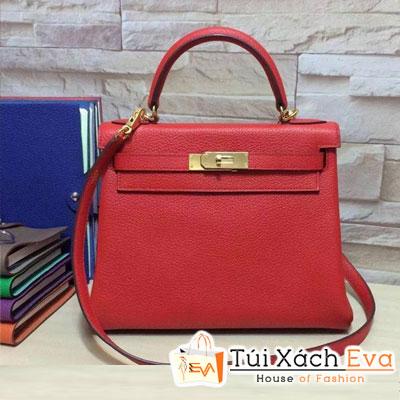 Túi Xách Hermes Kelly Siêu Cấp Da ToGo Màu Đỏ Size 28 Đẹp