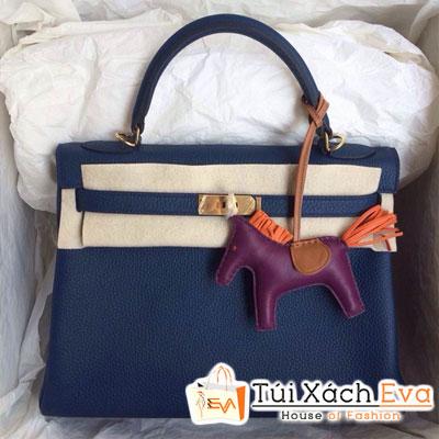Túi Xách Hermes Kelly Siêu Cấp Da ToGo Màu Xanh Đen Size 32 Đẹp