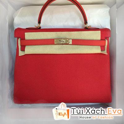 Túi Xách Hermes Kelly Siêu Cấp Da ToGo Màu Đỏ Size 35 Đẹp