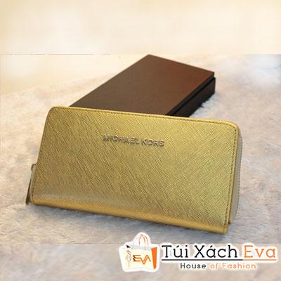 Ví Nữ Michael Kors Khóa Kéo F1 Màu Gold  Đẹp