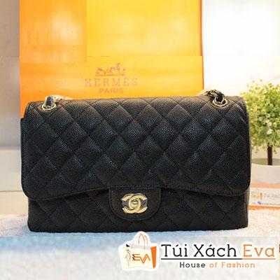 Túi Xách Chanel Classic Super Màu Đen Da Hột Size 30 Đẹp