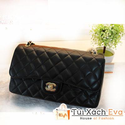 Túi Xách Chanel Classic Super Màu Đen Da Lì Size 30 Đẹp