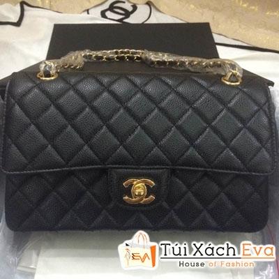 Túi Xách Chanel Classic Super Da Hột Màu Đen Đẹp