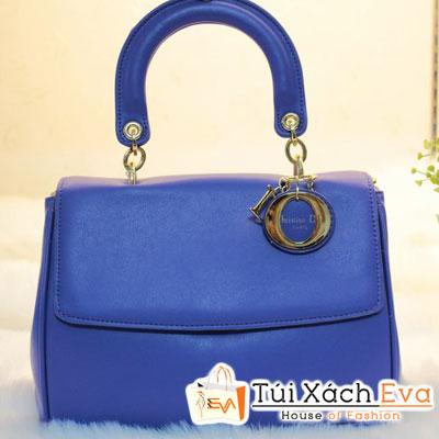Túi Xách Dior Be F1 Màu Xanh Cobalt Khóa Vàng Đẹp