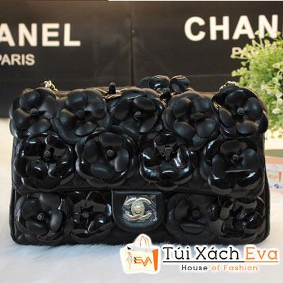 Túi Xách Chanel Classic Hoa Hồng F1 Màu Đen Hoa Đen Đẹp