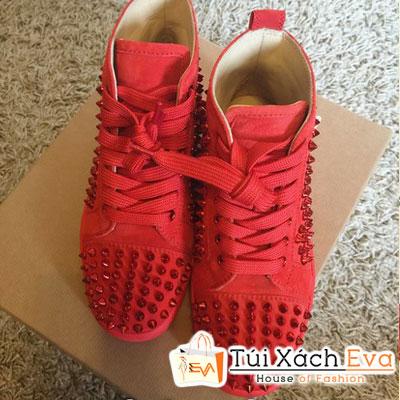 Giày Thể Thao Louboutin Sneaker Super Màu Đỏ Đẹp