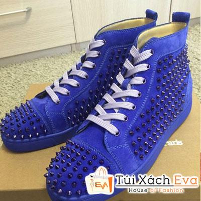 Giày Thể Thao Louboutin Sneaker Super Màu Xanh Cobalt Đẹp