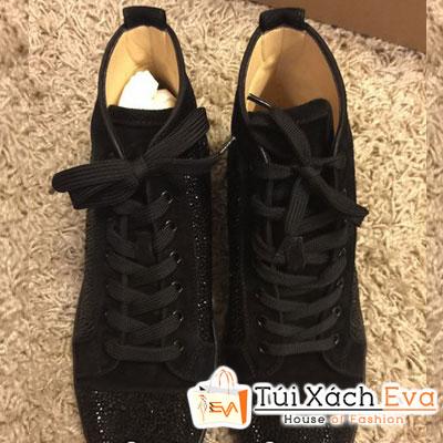 Giày Thể Thao Christian Louboutin Super Đính Hạt Đen Màu Đen Đẹp