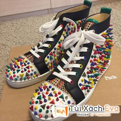 Giày Thể Thao Louboutin Pikpik Super Màu Trắng Đẹp