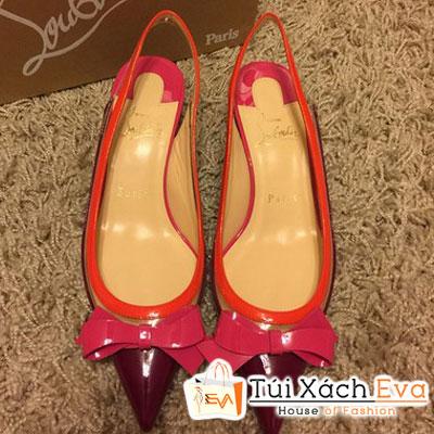 Giày Gót Nhọn Christian Louboutin Suspenodo Super Màu Đỏ Đính Nơ Đẹp