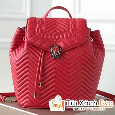 Balo Bvlgari Serpenti Forever Backpack Siêu Cấp Màu Đỏ