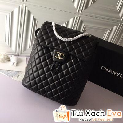 Balo Chanel  Backpack Siêu Cấp Màu Đen Da Lì Màu Đen