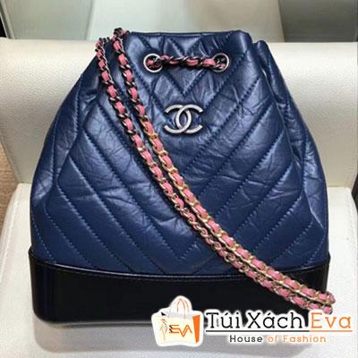 Balo Chanel Gabrielle Backpack Bag Siêu Cấp Màu Xanh Dương  A94485sz