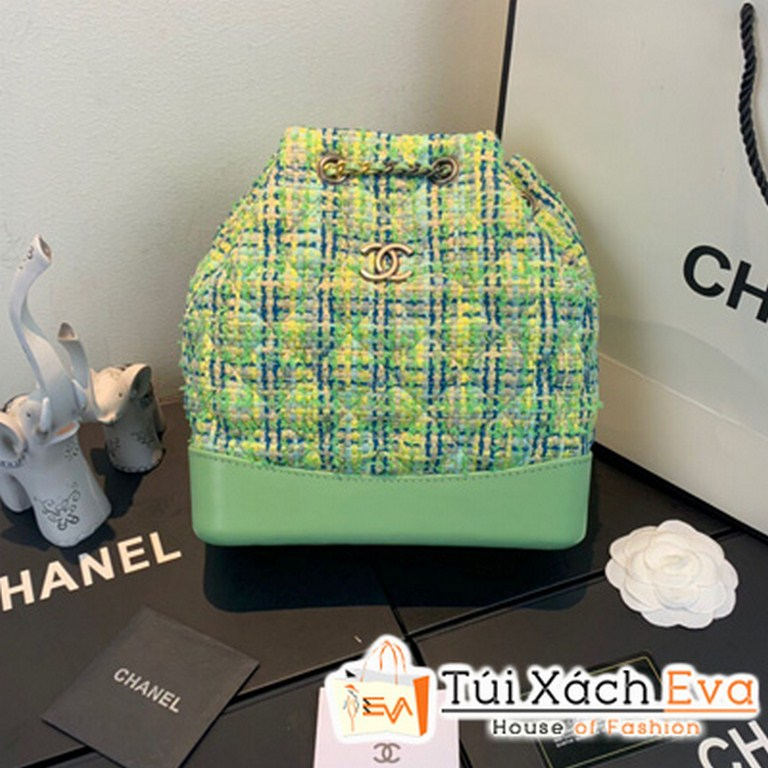 Balo Chanel Green Tweed Small Backpack Siêu Cấp Màu Xanh