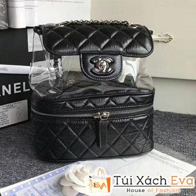 Balo Chanel Siêu Cấp Da Nhăn Màu  Đen