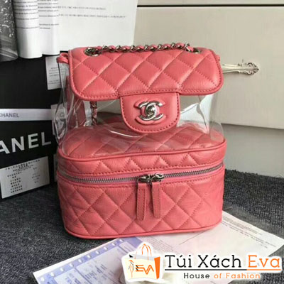 Balo Chanel Siêu Cấp Da Nhăn Màu  Đỏ