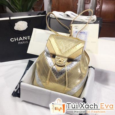 Balo Chanel Siêu Cấp Màu Vàng Đồng