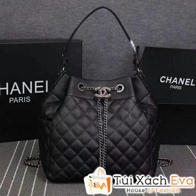 Balo Chanel Super Da Bò Màu Đen