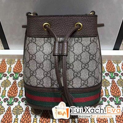 Balo Gucci Ophidia GG Mini Bucket Bag Siêu Cấp  Rút Màu Nâu  550620