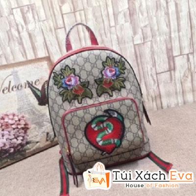 Balo Gucci Supreme Backpack Siêu Cấp Viền Đỏ 427042
